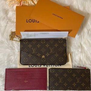 Authentic Louis Vuitton Pochette Felicie Monogram